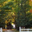 Stock Photo: A Rural Property In The Fall