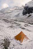 Snow Tent On Mountain — Stock Photo