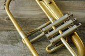 Closeup Of A Trumpet — Stock Photo