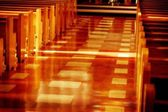 A Church Aisle — Stock Photo