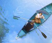 A Romantic Outing In A Canoe — Foto de Stock