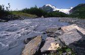 Worthington Glacier Chugach Mountains — Stock Photo