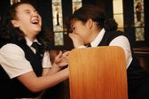 Children Goofing Off During Mass — Stock Photo