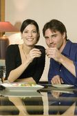 Young Couple Toasting — Stock Photo