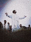 Mosaic Of Jesus Christ And Crowd — Stock Photo