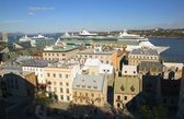 Port Of Quebec City And Ocean Cruise Ship — Stock Photo