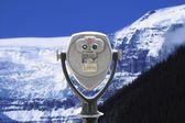 View Finder Overlooking Mountain Scene — Stock Photo