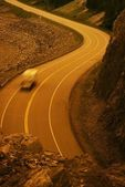 Vehicle On Curvy Road — Stockfoto