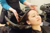 At The Hair Salon — Stock Photo
