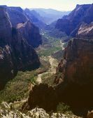 Zion Canyon, View From East Rim, Zion National Park — Foto de Stock