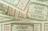 Admission Tickets — Stock Photo