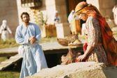 イエス、女性に近づく — ストック写真