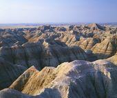 Eroded Landscape With Banded Colors, Badlands National Park, South Dakota, Usa — Stock Photo