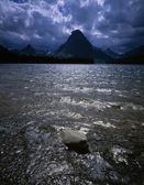 Mount Sinopah, Two Medicine Lake, Glacier National Park — Stock Photo