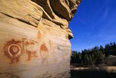 Indian Pictographs, Bear Gulch Pictographs — Stock Photo