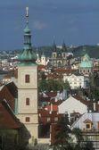 Letecký pohled na celé praha česká republika — Stock fotografie