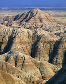 Eroded Landscape With Banded Layers, Badlands National Park — Stock Photo