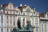 Huss Memorial Old Town Square (Staromestske Namesti) Prague Czech Republic — Stock Photo