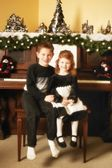 Children At Christmas — Stock fotografie