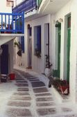 Picturesque Whitewashed Houses, Mykonos, Greece — Stock Photo