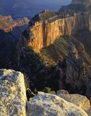 Wotan's Throne, View From North Rim, Grand Canyon National Park — Stock Photo