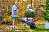 Couple Doing Yard Work — Stock Photo