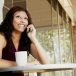 Stock Photo: WomTalking On Cell Phone