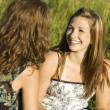 Two Young Women Talking — Stock Photo #31708483