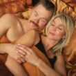 Stock Photo: Couple Sleeping