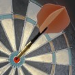 Stock Photo: Dart On Dartboard