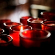 Stock Photo: Red Votive Candles