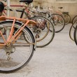 Foto Stock: Bicycles In Row