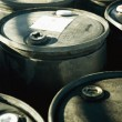 Battery Acid Barrels — Stock Photo