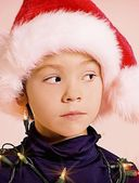Young Child With Christmas Outfit — Stock Photo