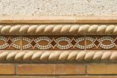 Decorative Border Tile On Outside Wall — Stock Photo