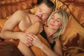 Couple Sleeping — Stock Photo