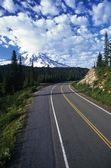 Interstate With Mountain View — Stock Photo