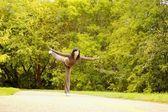 Woman Balancing — Stock Photo