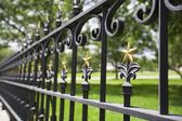 Fence With Gold Stars — Stock Photo