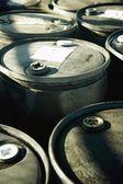 Battery Acid Barrels — Stock Photo