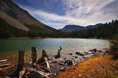 Shoreline Of Mountain Lake — Stock Photo