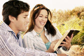 Couple Reading The Bible — Stock Photo