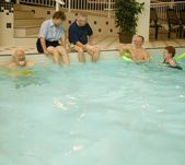 Group Of Seniors Swimming — Stock Photo
