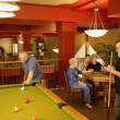 Stock Photo: Seniors Pool Night