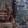 Stock Photo: Stone Heads At Bayon Temple