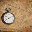 Pocket Watch On Textured Background — Stock Photo