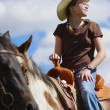 Girl Riding Horse — Stock Photo #31711625