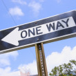 Stock Photo: One Way Street Sign