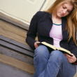 Stock Photo: Reading A Book