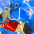 Stock Photo: Kids Swimming Underwater